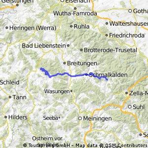 Von Steinbach Hallenberg  zum Schönsee, mit dem Zug zurück