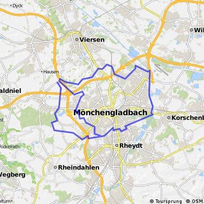 2 Ringrouten um Mönchengladbach herum