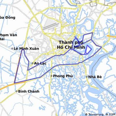 VNM HCMC-Le Minh Xuan-Idiot Circle-HCMC (104km)