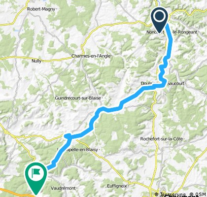 Camino 2015 05b Joinville nach Clairvaux