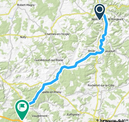 Camino 2015 5b Joinville nach Clairvaux