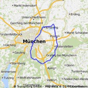 Isar und Halbkreis östl. München