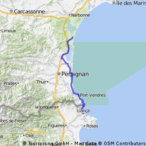 Port-La-Nouvelle til Colera (Spanien)