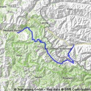 Alpentocht alternatief Dag 1 Cuneo - Barcelonette