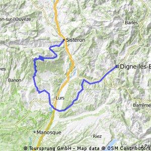 Alpentocht alternatoied dag 3: Digne-les-Bains - Sisteron