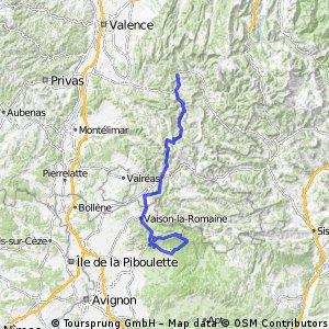 Alpentocht 2015 dag 1: Malaucene - Pennes-le-Sec
