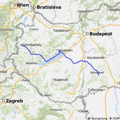 Szombathely -Szombathely (Kiskunhalas _Balaton-Szombathely)1000/III. nap)