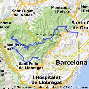 Salto de la Rierada, Castellciuro desde Can Drago
