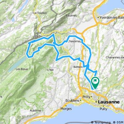 Le Mont/Col de Mollendruz/Vallée de Joux/Chavornay