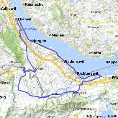 Thalwil-Hirzel-Edlibach-Menzingen-Freienbach-See.kml