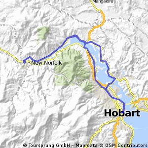 Cycling Routes And Bike Maps In And Around Hobart Bikemap Your - Hobart map