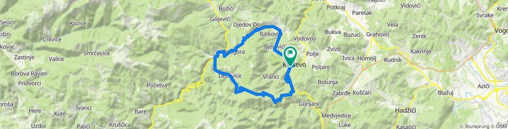 2. Kreševo-Vrela-Blinje-Lopata-Deževice-Dusina-C.Kamenik-Kreševo