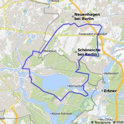 Köpenick - Hoppegarten - Wilhelmshagen - Köpenick