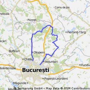 Bucuresti - Snagov - Afumati - Bucuresti