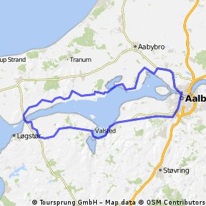 Cycling routes and bike maps in and around Aalborg Bikemap Your