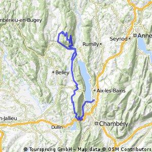 Alpentocht 2015 dag 4 zonder Mont du Chat Chamberry - Culoz