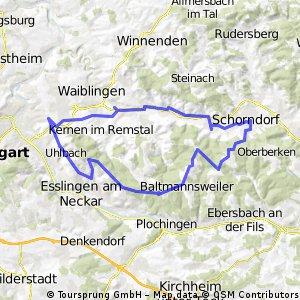Sonntagstour - Fellbach Schurwald