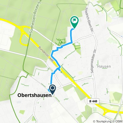 Obertshausen vom S-Bahnhof zur Waldschule