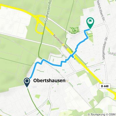Obertshausen Weg zwischen den Feuerwehrhäusern in Obertshausen und Hausen