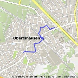 Obertshausen Vom Hitmarkt zur Heusenstammerstr. ohne auf der Bahnhofstr. zu fahren