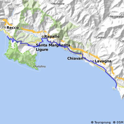 Cycling Routes And Bike Maps In And Around Camogli Bikemap
