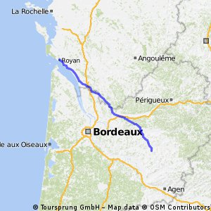 Royan to Bourgougnague