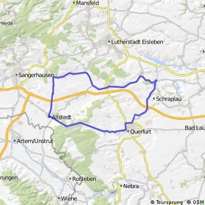 Rennrad Trainingsrunde Röblingen - Allstedt