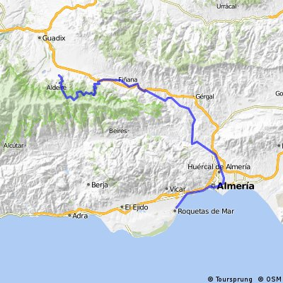 Gran Ruta Guadix - Roquetas (propuesta 1)