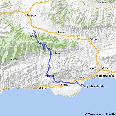 Gran Ruta Guadix - Roquetas (propuesta 2)