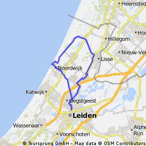 Cycling routes and bike maps in and around Leiden Bikemap Your