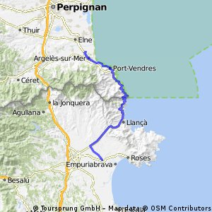 Cycling routes and bike maps in and around Castell dEmpries