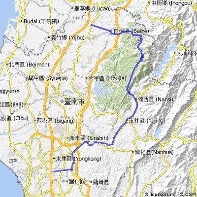 台南-玉井-楠西-關子嶺-白河-後壁
