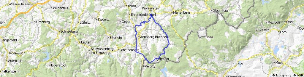 Sehma-Wolkenstein-Steinbach-Jöhstadt-Sehma