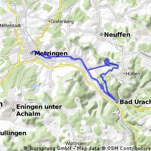 Durch den Wald nach Bad Urach