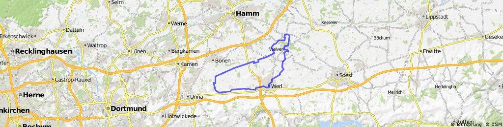 Unna Lünern-Werl-Welver-Dinker und zurück