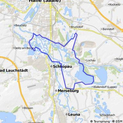 Trekkingrunde südlich von Halle/S