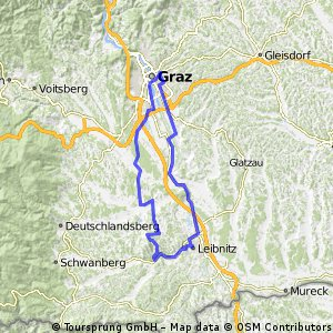 Cycling routes and bike maps in and around Graz Bikemap Your