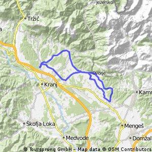 Kranj-Preddvor-Olševek-Komenda-Cerklje-Kranj (2:00)