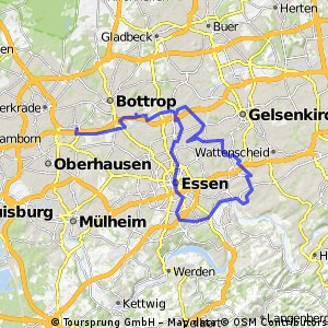 Oberhausen-Bahntrasse Essen Rundkurs