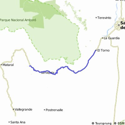 Bolivia El Tomo - Mairana  (100 km)