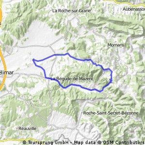 Saint-Gervais-sur-Roubion Comps Dieulefit retour