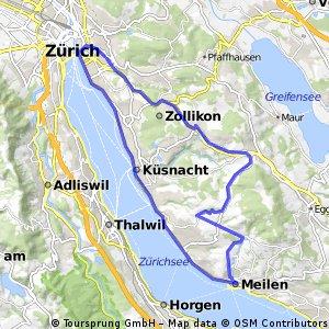 Zürich - Meilen - Forch: Minibergtour
