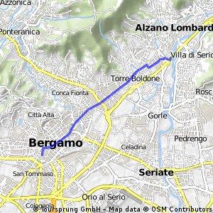 Via Greppi - inizio ciclovia Val seriana