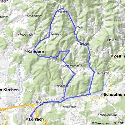 Lörrach-Weitenau-Endenburg-Marzell-Schopfheim