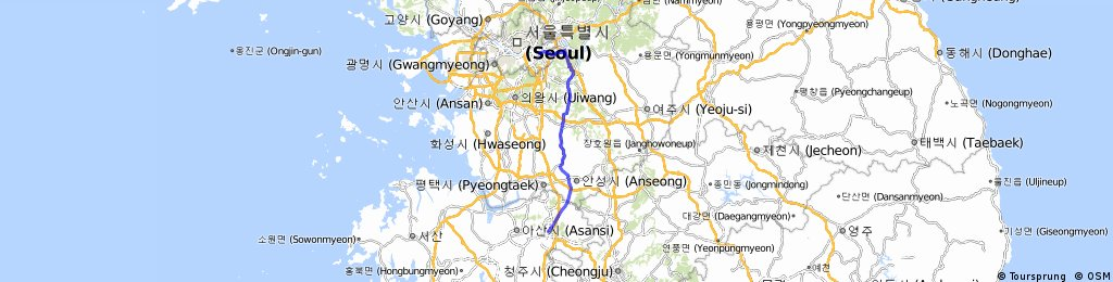 Seoul > Cheonan 108k | Bikemap - Your bike routes