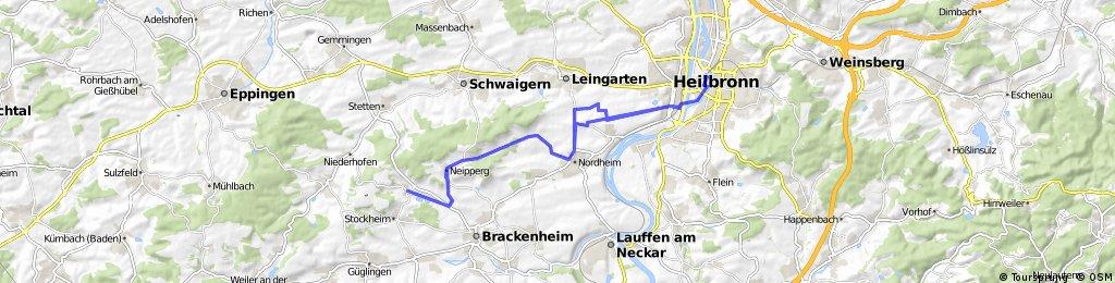 CHALLENGE HEILBRONN Radstrecke Olympische Distanz NEU