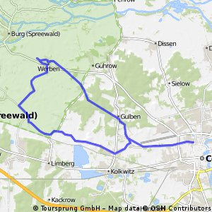 Spreewald - Streckenmodul 1A: Cottbus-Werben-Burg