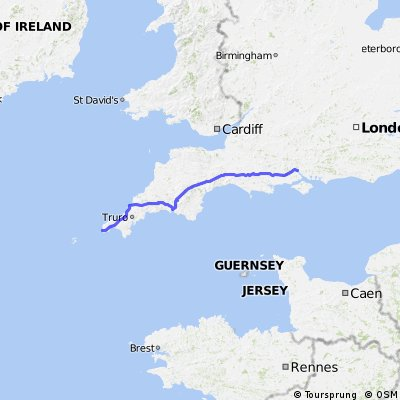 Southampton to Land's End