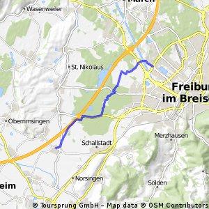 Mengen/FR Paduaallee: Waldwege und Mundenhof