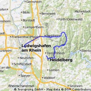 Heidelberg to MA 77km 1900